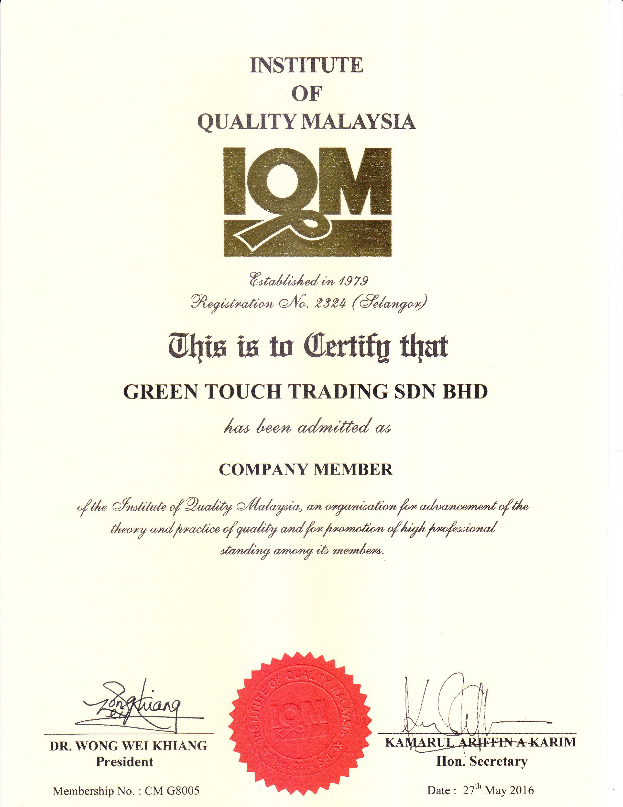 Green Touch Trading Sdn Bhd