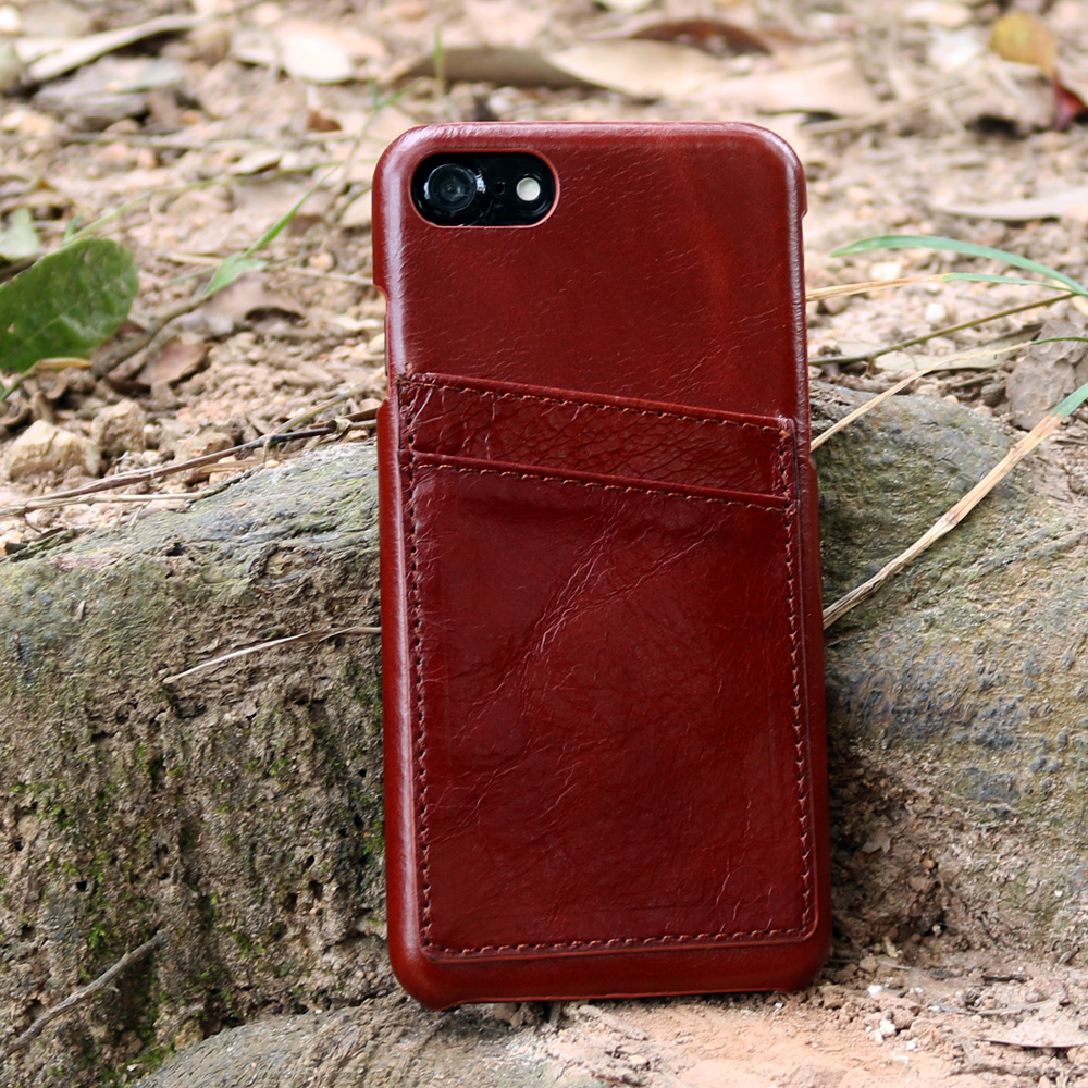 High quality leather case for cell phone for iphoen 7