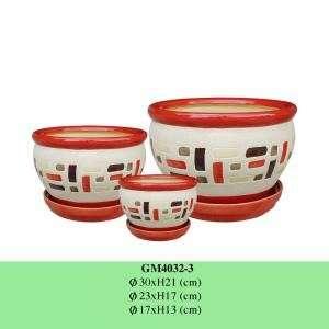 上釉陶瓷花盆