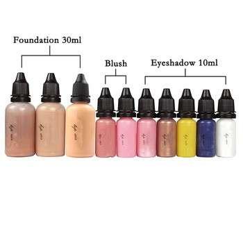 10瓶3色的空气喷枪化妆基础2空腮红眼影涂脸化妆5x空气