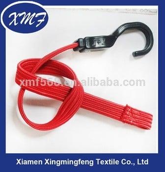 聚酯高强度蹦极绳,塑料钩,自行车蹦极绳