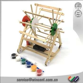 儿童学校教育玩具3D木制水电模型玩具