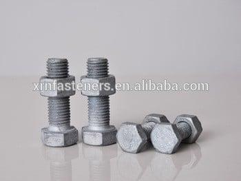 热镀锌有din933全螺纹高强度热镀锌螺栓和螺母DIN934硬件