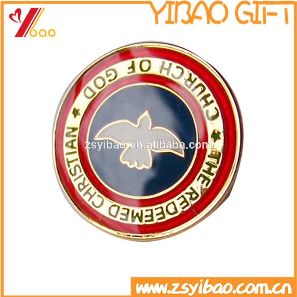 Metal Custom Engrave/printing/embossed/laser Logo Badge Pins