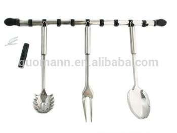 不锈钢厨房吊钩轨道9钩