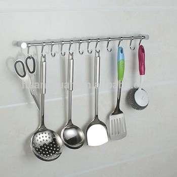 不锈钢厨房吊钩轨道5钩