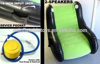 带喇叭的工厂充气摇椅
