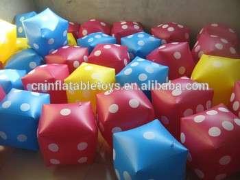 工厂促销充气方形骰子,充气派对玩具