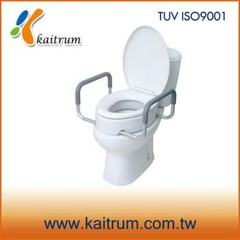 Bathroom Commode Care Elder Disable Raised Toilet Seat With Handles - Bathroom toilet handles