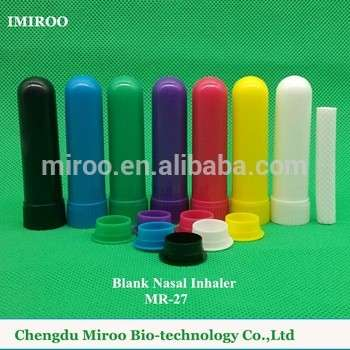 7彩色空白鼻吸入器灯芯d8xh51mm部分填充精油(四件/套)