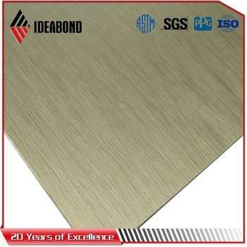 Brushed Aluminium Composite Panel / Acp For Outdoor Mosaic Wall Sticker