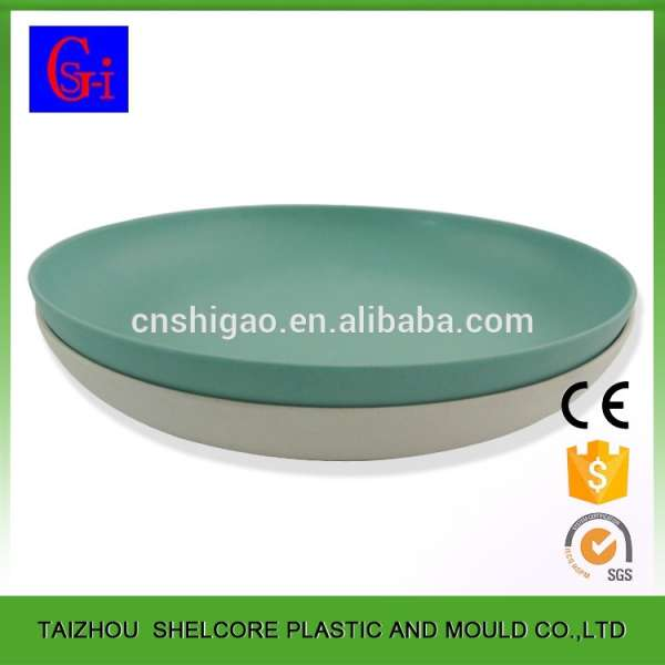sc 1 st  eWorldTrade & Hot Sale Round Custom Logo Restaurant Bamboo Fiber Plates Dishes