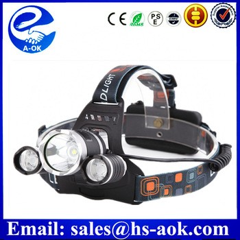 Outdoor Camping 3 led head lamp / hiway headlamp / cree led headlamp 5000 Lumens