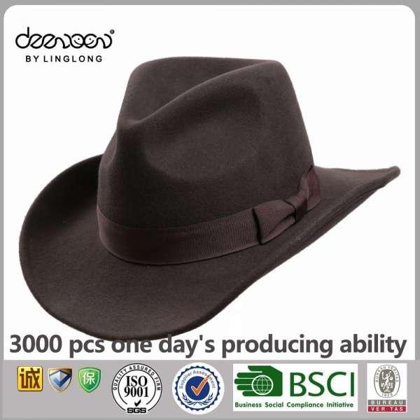43879a6650c14 Custom Men Hats Wool Felt Cowboy Hat Wholesale Lemmy Cowboy Hat