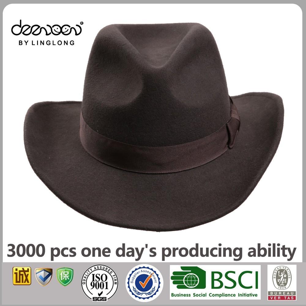 a7389f7a3222e Custom Men Hats Wool Felt Cowboy Hat Wholesale Lemmy Cowboy Hat