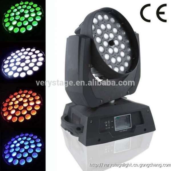 Led zoom beam wash Full color RGBW 36 *15 W 6 in 1 moving head stage light