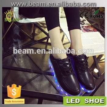 时尚休闲男装LED灯,鞋,LED鞋2016人休闲鞋,夜间安全LED闪烁鞋灯