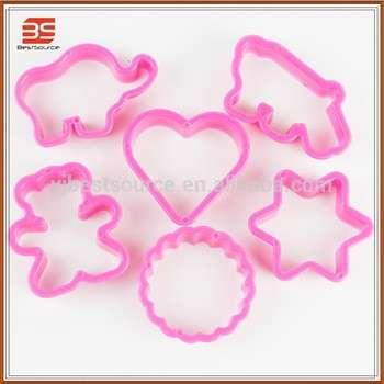 可爱形状粉红塑料饼干刀烘烤工具出售