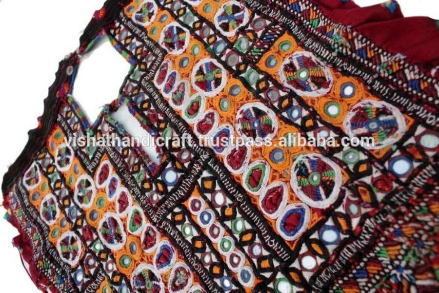复古舞Banjara Kutchi布镜工作年份印度织物工艺手工制作