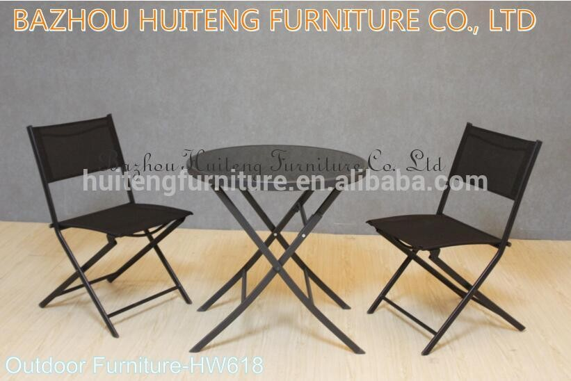 2017 Hotsale Outdoor cafe furniture folding bistro sets
