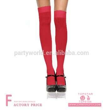 红色大腿高个性化圣诞袜销售袜子