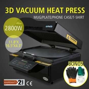三维多功能微型真空热压升华转印机设备