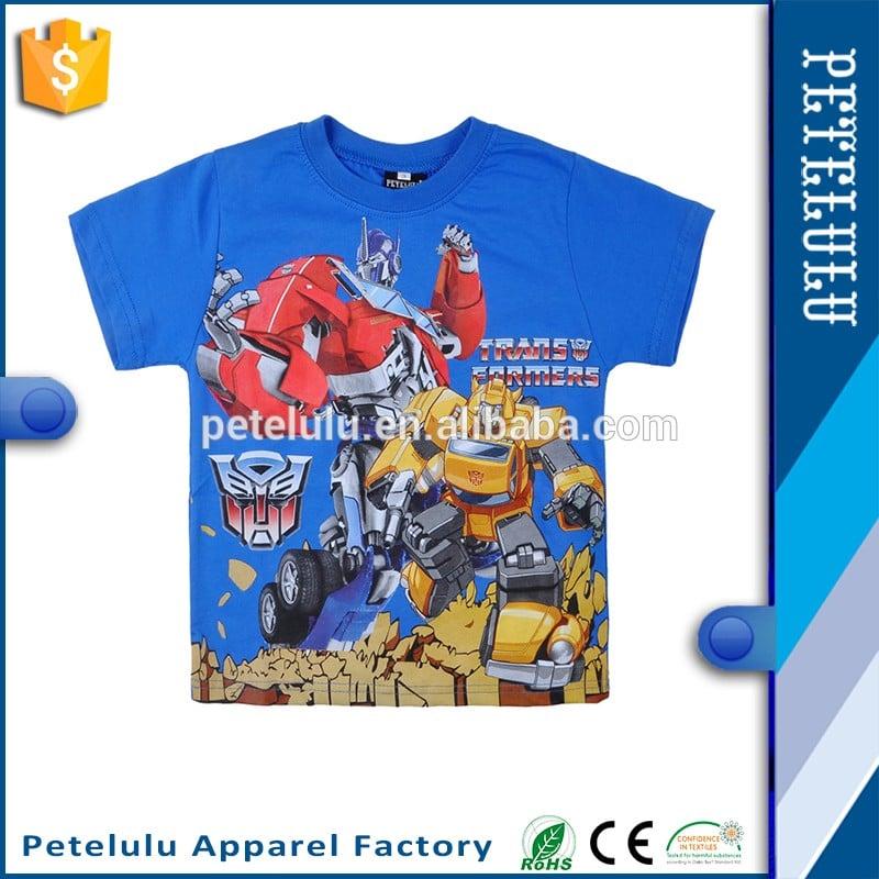 dc841702ac69 China Latest Fashion Kids Summer Wear Custom Childrens Cartoon Character Printed  T-shirt Designs For Boys