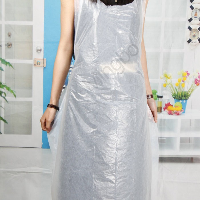 妇女纯面包房PE防护塑料围裙批发