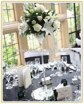 Hot Wedding Decoration Tall Flower Martini Vase Glass Vases