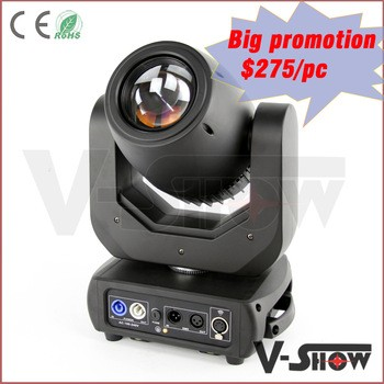 V-show Pro Lighting 150w led spot moving head /hot stage light 150w moving head/led spot light adjustable focus