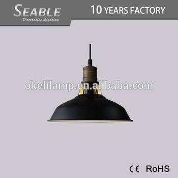 高品质节能圆形室内金属复古吊灯