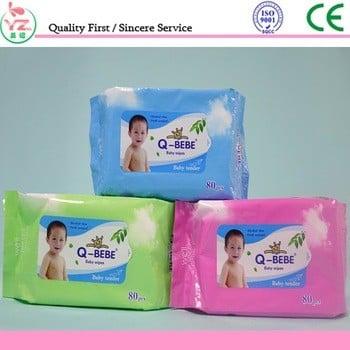 批发OEM一次性软水刺婴儿湿巾/手和脸与价格低廉的中国清洁湿纸巾供应商