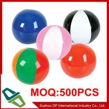 6面板PVC标志打印充气游泳沙滩球