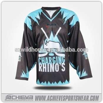 Newest Cheap College Field Sublimation Ice Hockey Jerseys Custom