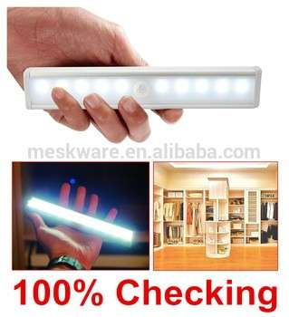 10 LED Wireless PIR Auto Motion Sensor Light Intelligent Portable infrared Induction Lamp Night Lights for Cabinet Hotel Closet