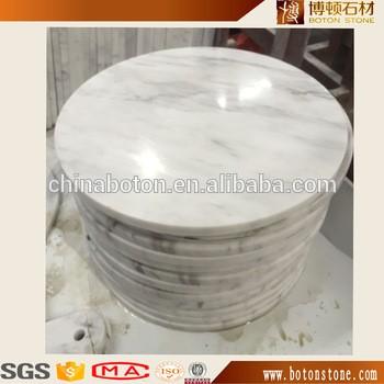 抛光天然石材家具广西汉白玉圆形桌面