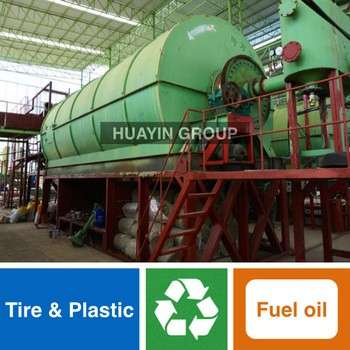 Huayin Brand Green Tech Waste Tire/Plastic Recycling To Biodiesel Machine