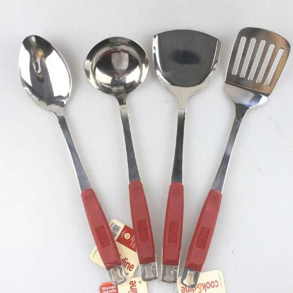 多功能不锈钢健康餐厅4pcs烹饪工具集