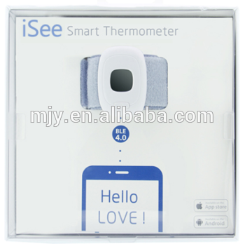 数字蓝牙智能婴儿温度监测24hrs家用无线婴儿温度计温度计,佩戴舒适