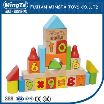 wholesale Eco-Friendly funny baby educational wooden blocks toy