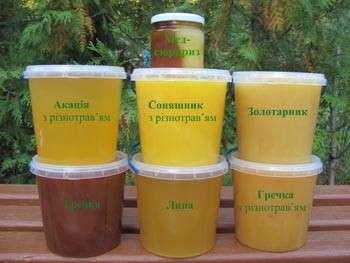乌克兰天然蜂蜜-相思-杂色草-林登-荞麦蜂产品蜂蜡产品品种。