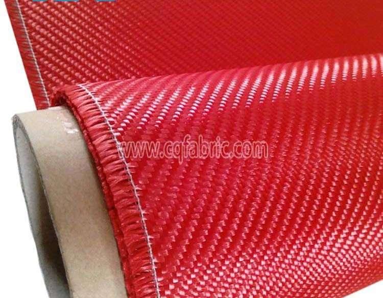 230gsm染成红色的斜纹布,芳纶织物销售scf-005