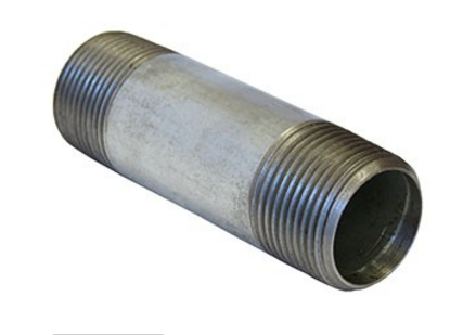 Long Pipe thread Black & galvanized carbon steel pipe nipples