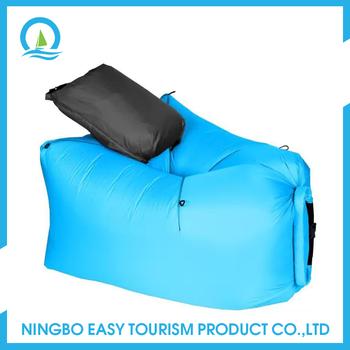 Outdoor Easy To Fold Fhe Beach Air Bag Blue Sofa Furniture