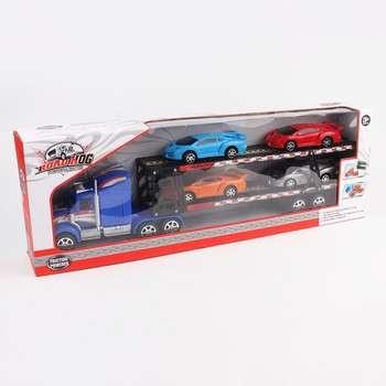 与4个汽车摩擦玩具车双层车