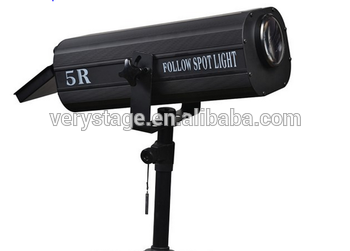 High brightness electronic 5r 189w follow spot light
