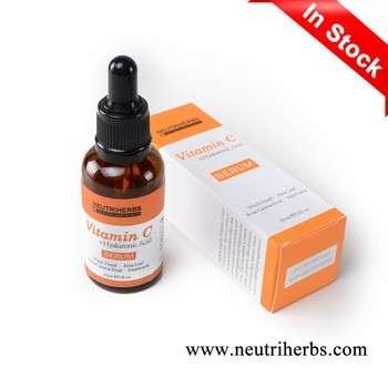 GMPC厂减轻和亮复杂的自然提升和紧致维生素C面部血清皮肤护理好
