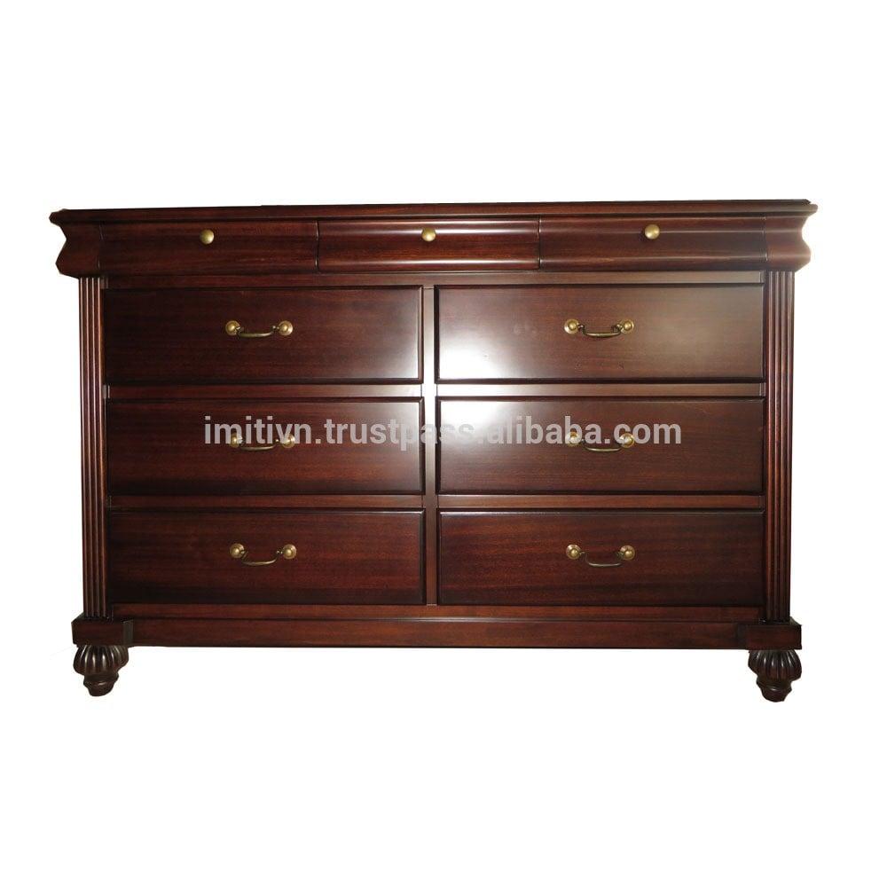 带抽屉的木制家具的房子的卧室家具柜集实木卧室梳妆台