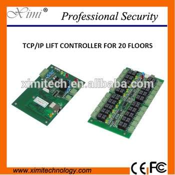 Tcp/Ip 40 Floors Biometric Fingerprint And Rfid Lift Elevator Control 2 Door Access Control Board System