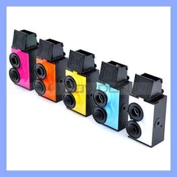DIY复古LOMO摄影双镜头反光相机35mm胶片相机的双镜头能